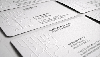 Embossing / Debossing is an image (or type) pressed into the paper so that it lies above or below the surface.