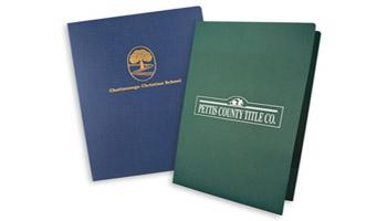 Colorful budget folders, budget-cutter foil folders, super saver PMS folders.