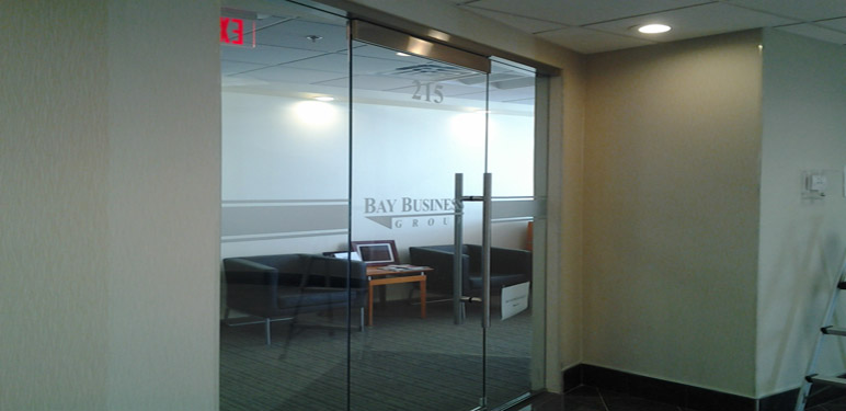 Let your brand radiate all the way to the front entrance with a custom indoor business sign.