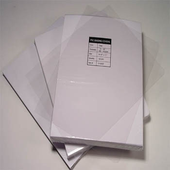 Clear report covers available in all sizes and thicknesses.