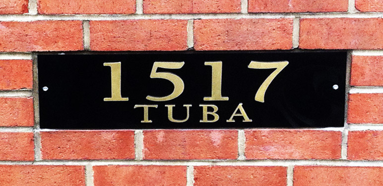 Illuminate your building with a custom address sign that not only helps people identify your building, but makes it hard to forget.