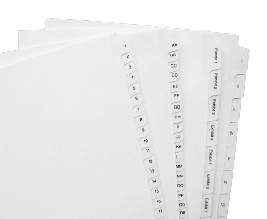 Huge selection of letter & legal size All-State style tabs in stock.