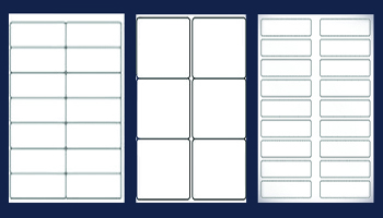 All Avery style templates and sizes available.