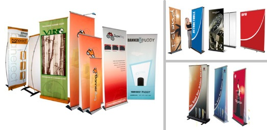 Retractable banners are the portable solution to your trade show display needs. Create custom trade show banners, available in all sizes and colors.