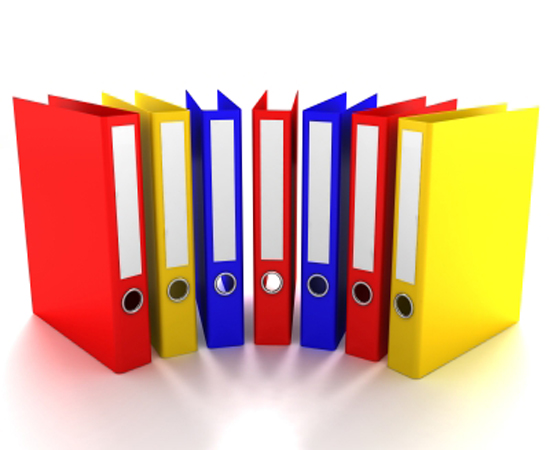 Binders available in all colors, sizes D-rings or O-rings.