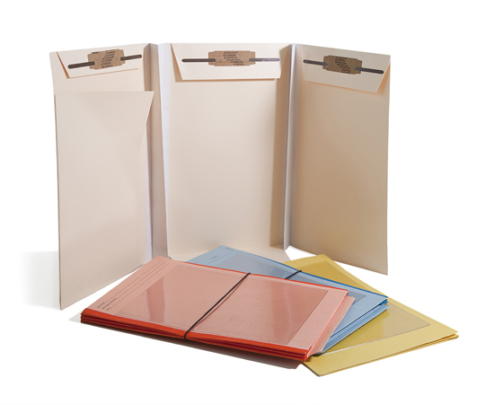 Tyvek gussets, teflon coated prongs, end tabs for shelf filing, interior pockets, flexicord closures & more.