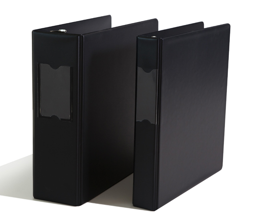 Clear vue or spine label holders. Available in all colors, sizes, D-ring, or O-ring.